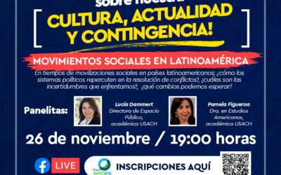 """¡Inscríbete! Conversatorio """"Movimientos sociales en Latinoamérica"""""""