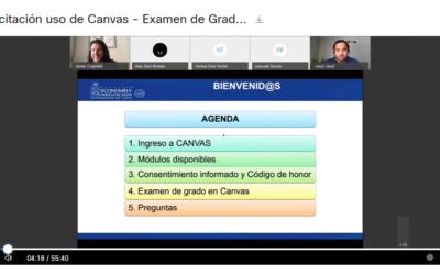 Registro capacitación y charla – Examen de Grado IC. Lic. en Cs. Económicas