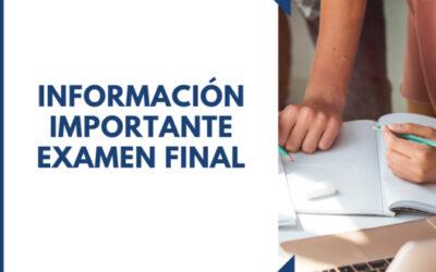 REQUISITOS PARA EL EXAMEN FINAL VERANO 2021