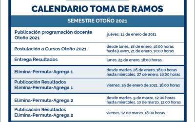 Calendario toma de ramos otoño 2021