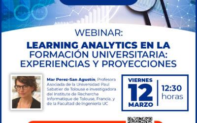 """Webinar """"Learning analytics en la formación Universitaria: experiencias y proyecciones"""