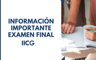 Calendario examen final IICG Otoño 2021