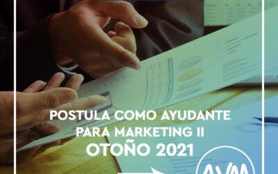 Concurso para Ayudantes Marketing II Otoño 2021