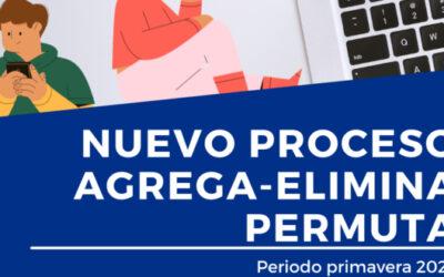Periodo excepcional agrega-elimina-permuta