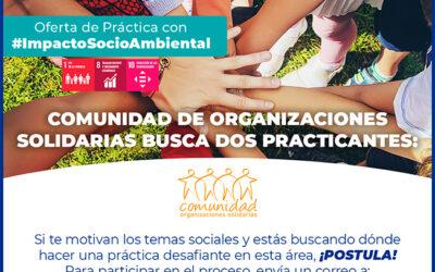 Vacantes de práctica en Comunidad de Organizaciones Solidarias