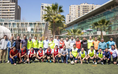 Ex jugadores de la selección de fútbol FACEA (hoy FEN) despidieron al profesor Carlos Medina Vallejo