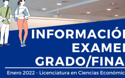 Examen de Grado/Final Ingeniería Comercial Licenciatura en Economía – Enero 2022