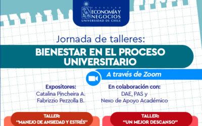 Jornada de talleres: Bienestar en el proceso universitario
