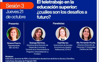 """Sesión 3 ciclo de seminarios: """"Teletrabajo, aprendizajes y avances para su implementación permanente"""""""