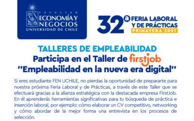 """FirstJob te invita al Taller """"Empleabilidad en la Nueva Era Digital"""""""